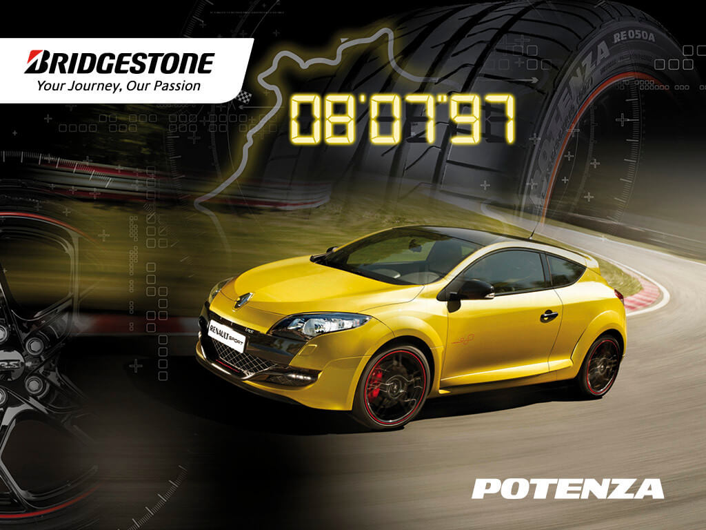 Renault Sport chooses the Bridgestone Potenza RE050A for the Megane RS Trophy